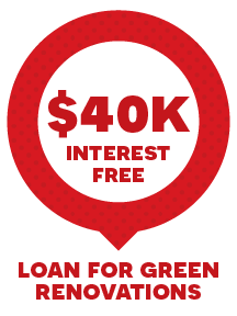 $40,000 interest free loan for green renovations
