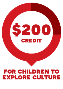 200 credit for children to explore culture